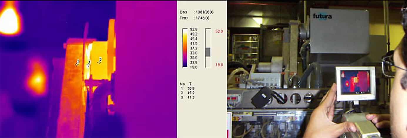 Termograma inspección robot