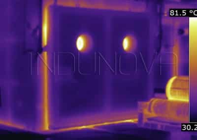 Termografía fugas térmicas horno industrial