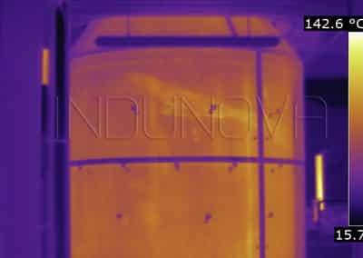 Termografía fugas térmicas tanque industrial