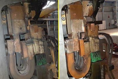 Restaurando maquinaria industrial con hielo seco