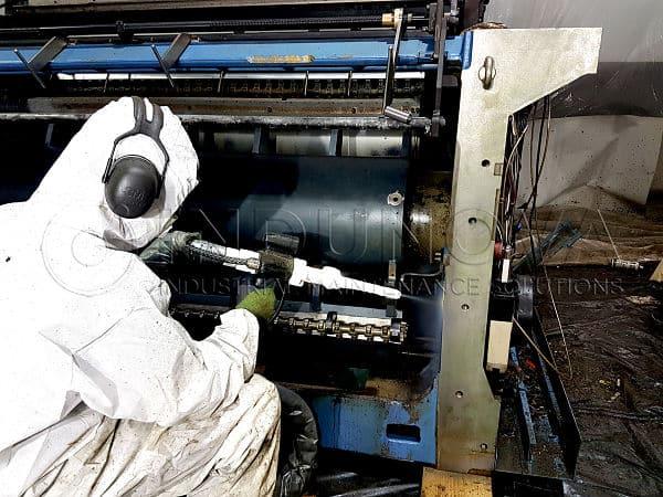 Limpieza criogénica en maquinaria de imprenta