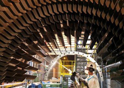 Limpieza criogénica en partes de turbina de gas