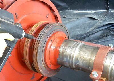 Limpieza criogénica en motores