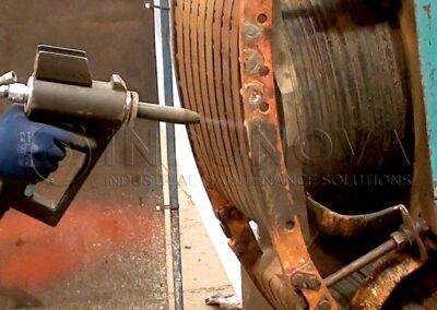Limpieza criogénica en devanados de generador eléctrico