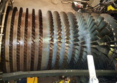Limpieza criogénica en turbina de gas GE