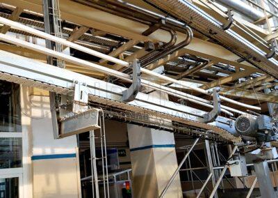 Limpieza en cinta de transporte industria alimentaria