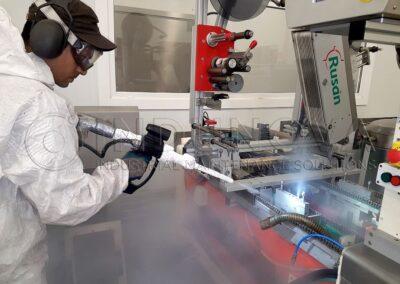 Limpieza criogénica en maquianaria industrial alimentaria