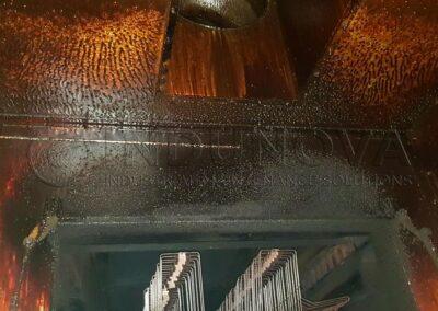 Limpieza de campana de horno industrial